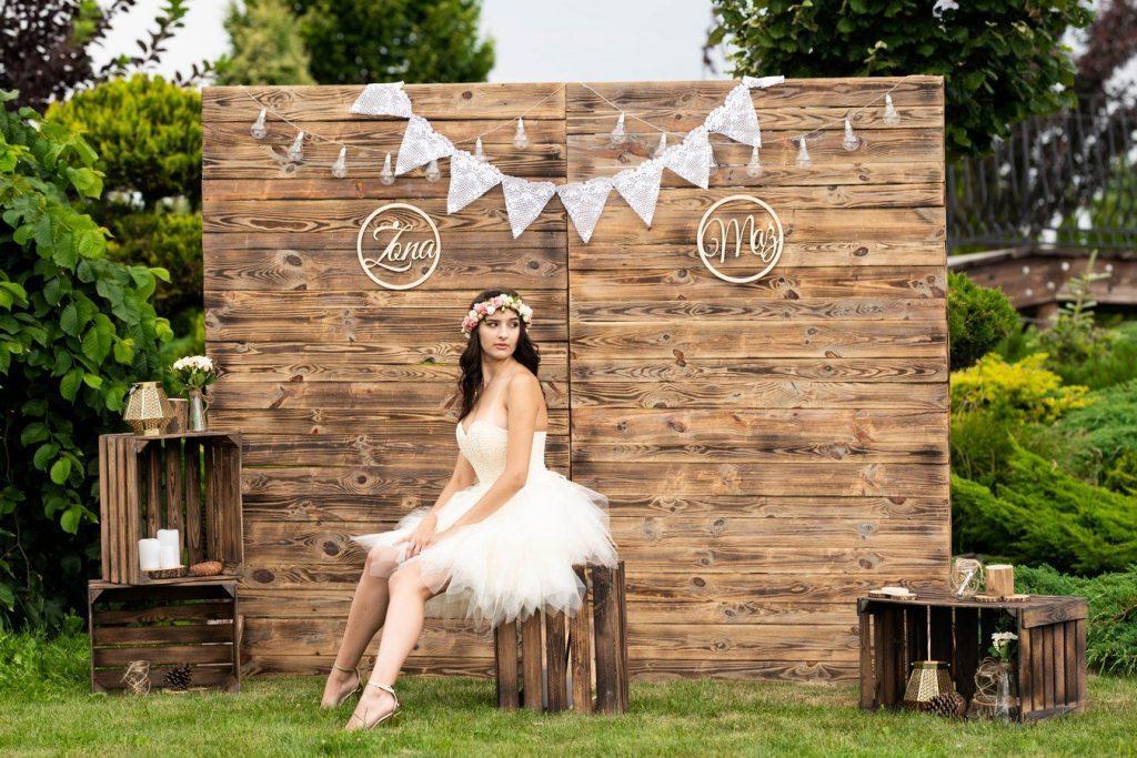 Fotościanka rustykalna BOHO Ścianka weselna ścianka ślubna do zdjęć za parę młodą ścianka wiejska